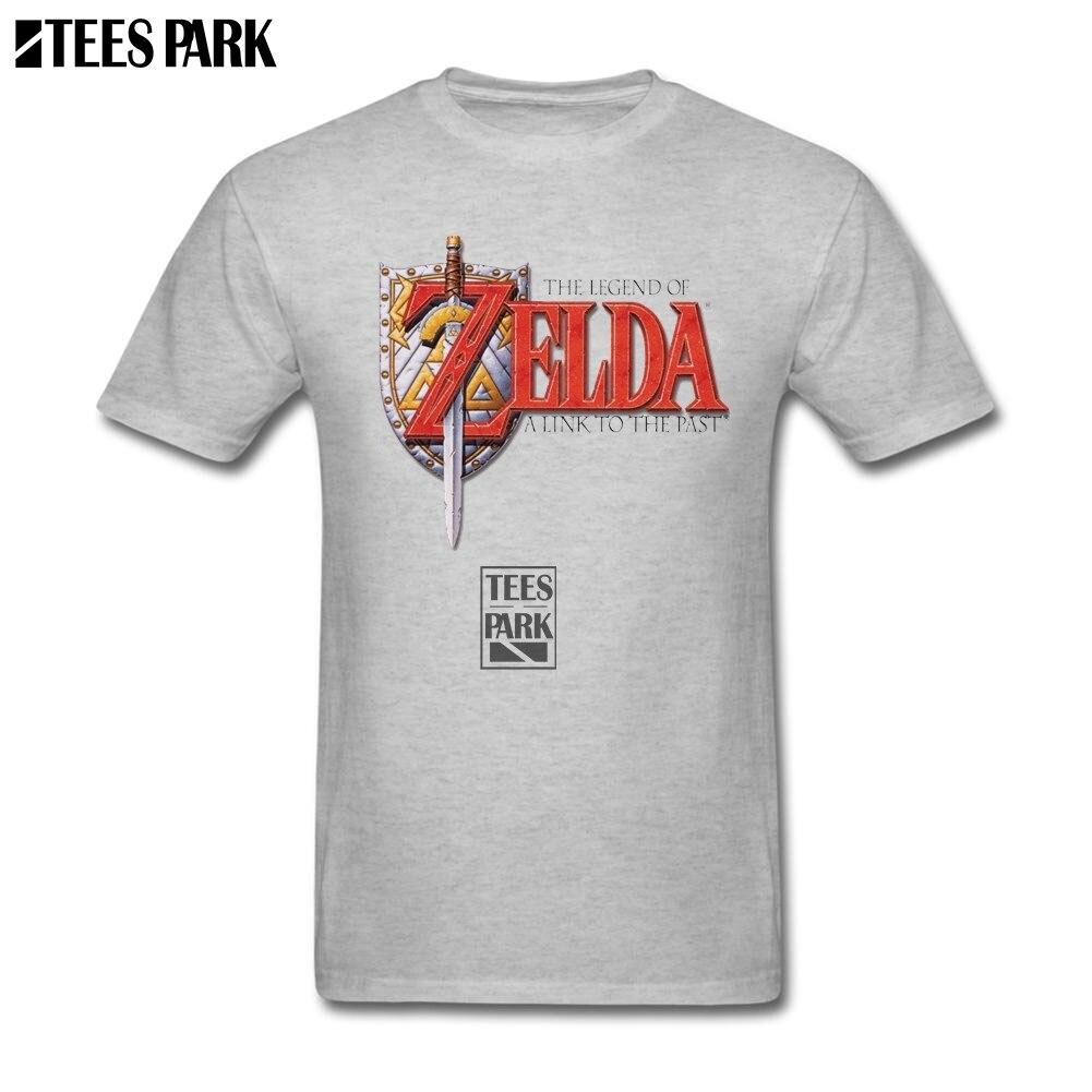 Camisas frescas del estilo del verano Zelda a link to the past funky T shirts manga corta de algodón orgánico camiseta del precio bajo masculina de dibujos animados