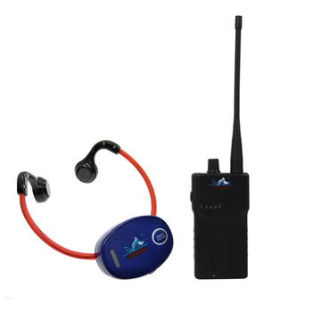 Swimming Teaching Gadget for Swimming Club with 1 Walkie Talkie + 3 Bone Conduction Waterproof Headphone Receivers+1 Microphone