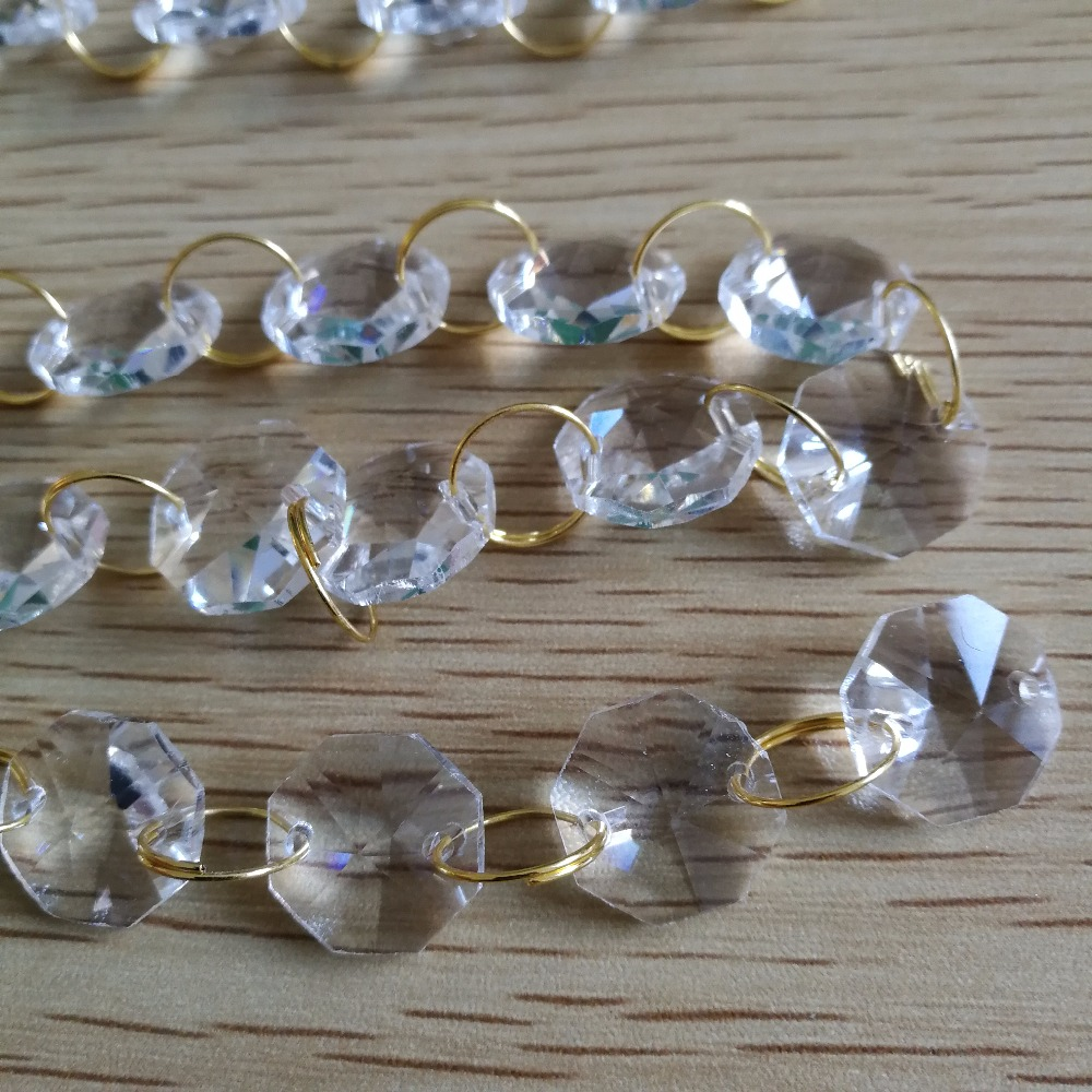 Hot sale 80meters crystal aaa gold ring crystal garland chain glass hot sale 80meters crystal aaa gold ring crystal garland chain glass octagon beads strands for chandelier wedding decoration in chandelier crystal from arubaitofo Choice Image