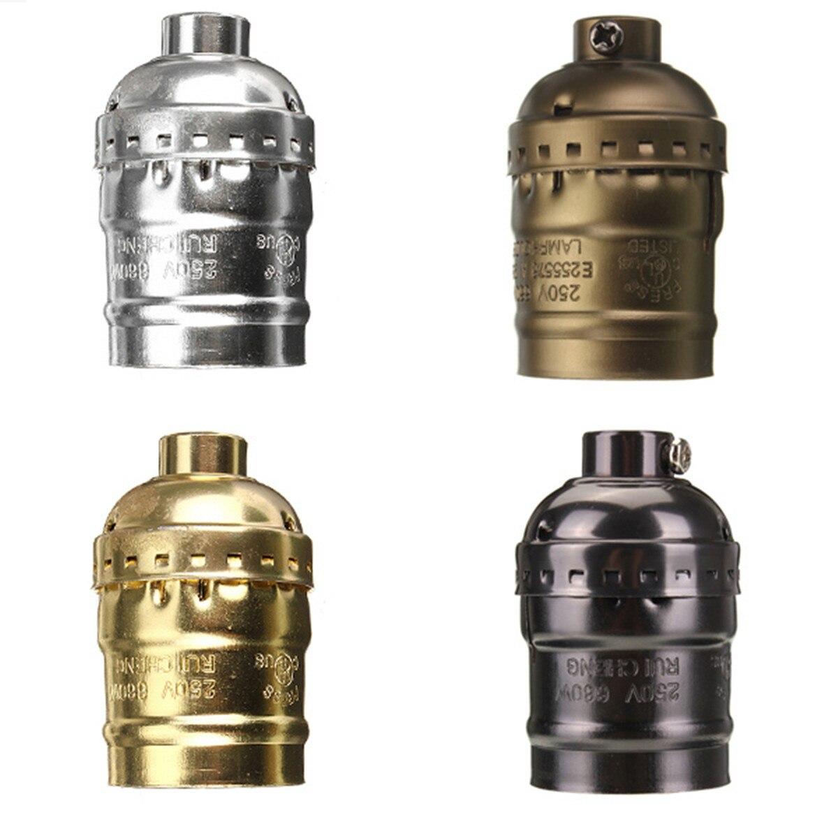 Smuxi Vintage Edison Pendant Lamp Holder E27 Screw Bulb Base Aluminum Brass Lamp Socket Industrial Retro Fittings Lamp Holders