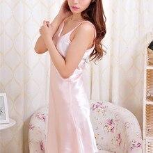 Летние женские сексуальный район шелковые ночные рубашки Нижнее белье с подтяжками Ночная рубашка пижамы женское платье#3797