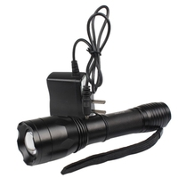 Hot Selling 1600lm Adjustable Focus 5 Mode CREE XML T6 LED Al Flashlight Torch Light Charger