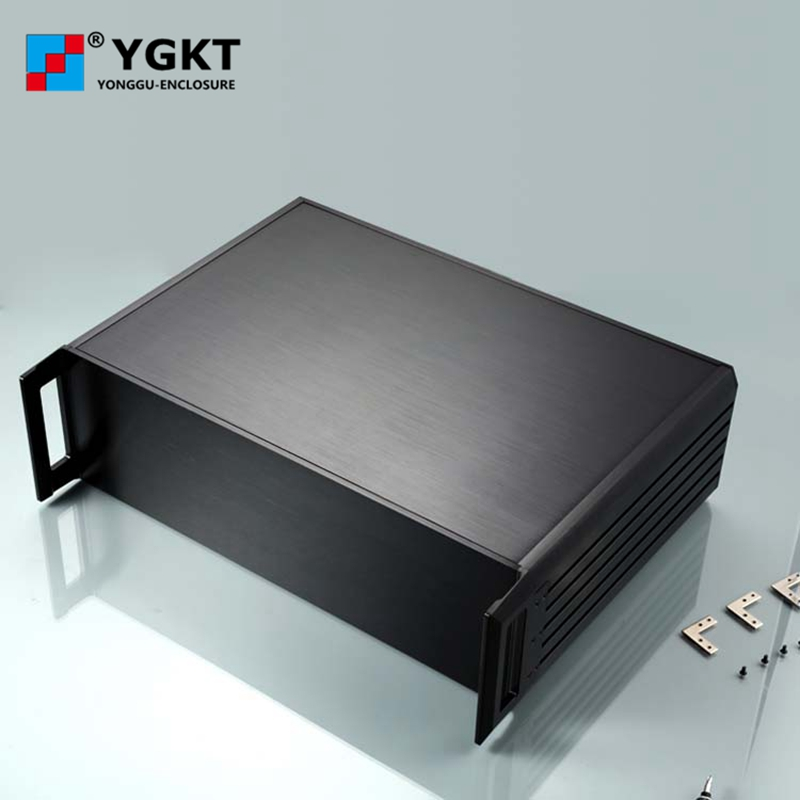 YGH-00229*132-270mm (wxhxd) 3u wall-mounted housing custom aluminum enclosure extruded aluminum box 482 133 4 295 250mm aluminum communication video aluminum frame chassis housing case with handle ygh 002 3u