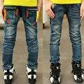 Высокое качество мальчик джинсы джинсовые брюки детская одежда мальчика джинсовые брюки 2016 новых Осенью горячей Продажи