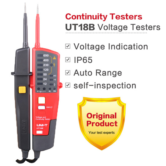 UT18A UT18B Auto Range Voltage Meter Continuity Teste Volt Detector Waterproof Test Pen RCD Testers LED Indication Worklight
