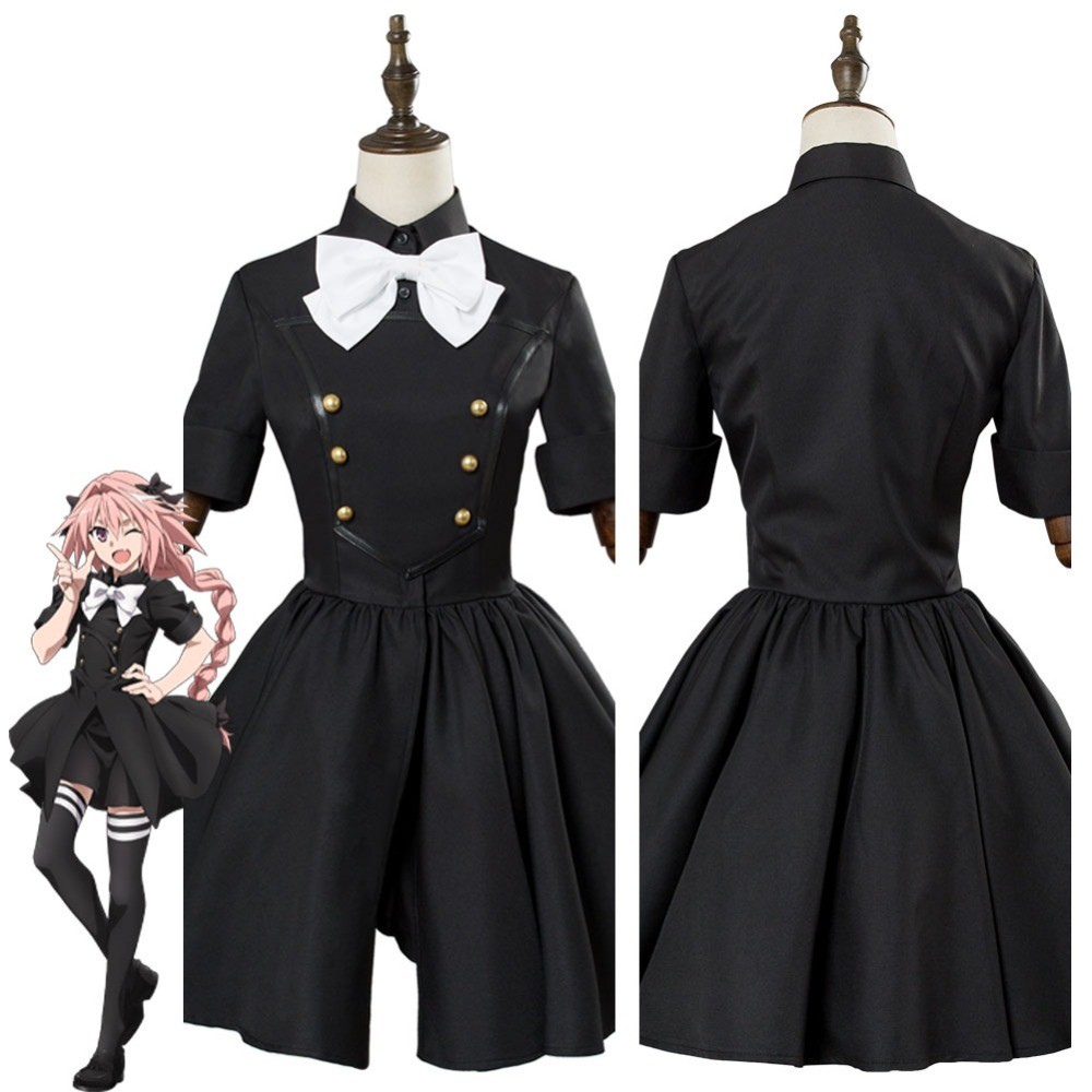 Fate Apocrypha Epilogue Event Astolfo Cosplay Costume Dress Adult Women Halloween Carnival Cosplay Costumes