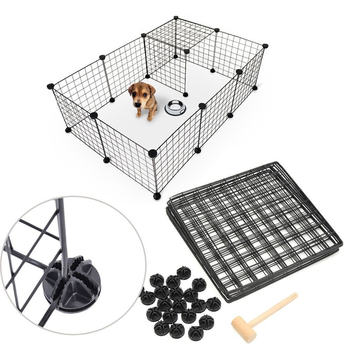 DIY Pet Playpen Fence Enclosure Yard Kennel Dog Cage Pen Crate Kennel Hutch Bunny Cage  Easy Install Storage Tool 1