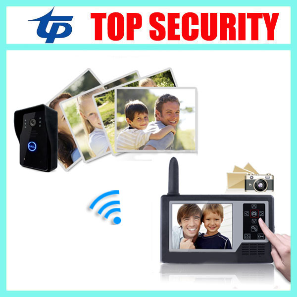 3.5 inch wireless color village video door intercom color screen door access control video door phone door bell system 300m wireless 7 inch video door phone wireless intercom system access control