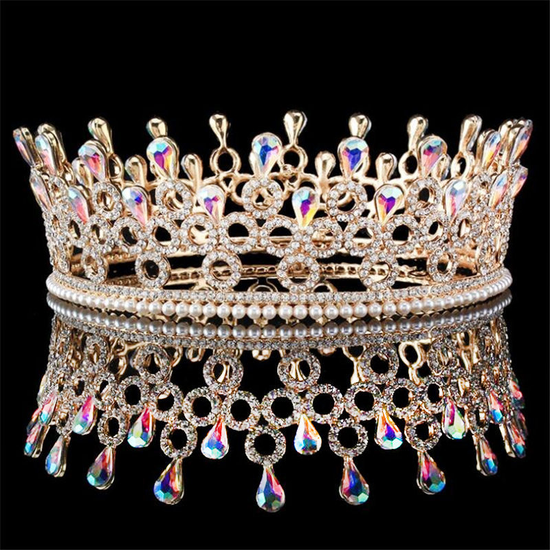 Princess Diadem Queen King Crown Tiara Crystal Wedding Prom Rhinestone Tiaras and Crowns Ornament Hair Jewelry Accessories