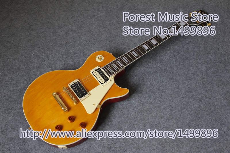 China OEM Marc Bolan Signature LP Custom Guitarra Electrica With Gold Hardware Left Handed Available high quality vintage green lp custom model electric china guitar with gold hardware left handed available