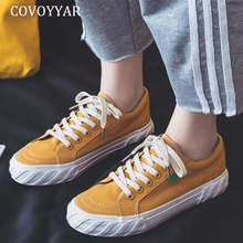 COVOYYAR Flat Woman Sneakers Spring Autumn Canvas Shoes Wome