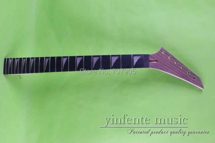 114# New Electric guitar neck Unfinished ebony  Fingerboard 22 fret 25.5