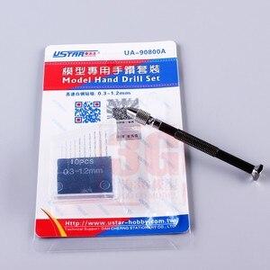 Image 3 - Precyzyjny Model dłoni zestaw wierteł z 10 sztuk 0.3mm 1.2mm głowica wiertła dla modelu DIY wiertarka Gundam Model narzędzia