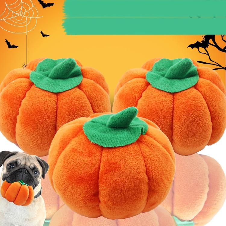 Dog Voice Toy Pet Cat Toy Pumpkin Plush Puppy Toy Dog Squeaking Popular Toys