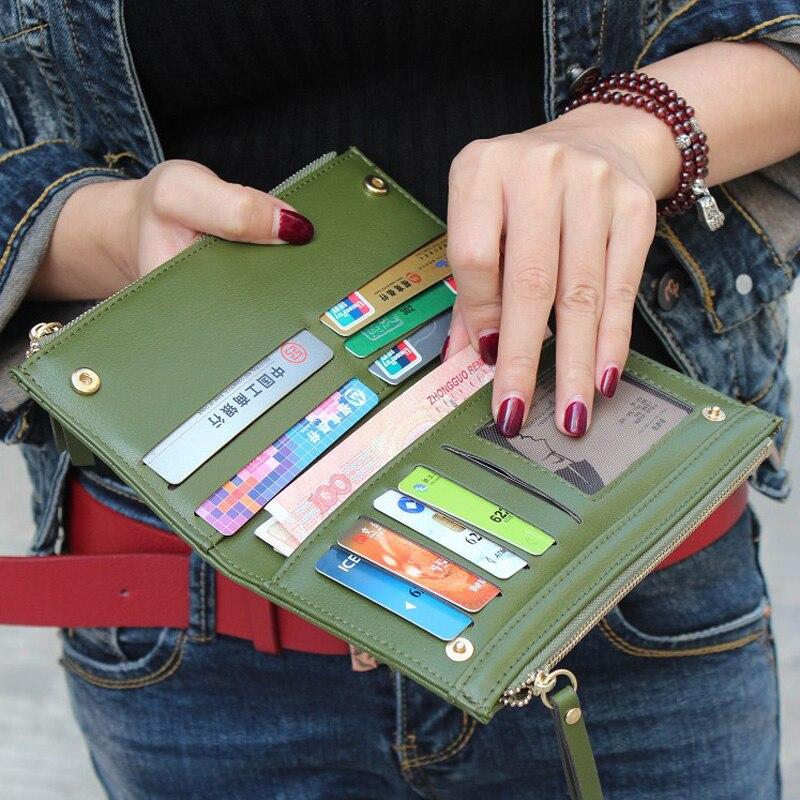 carteiras de embreagem bolsas duplo Color : Black, grey, pink, red, purple, green, rose, sapphire Blue