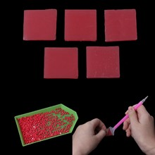 Hot Selling 5Pcs/Set DIY 5D Diamond Painting Glue Clay Embroidery Cross Stich Tool 2x2cm Feb1(China)