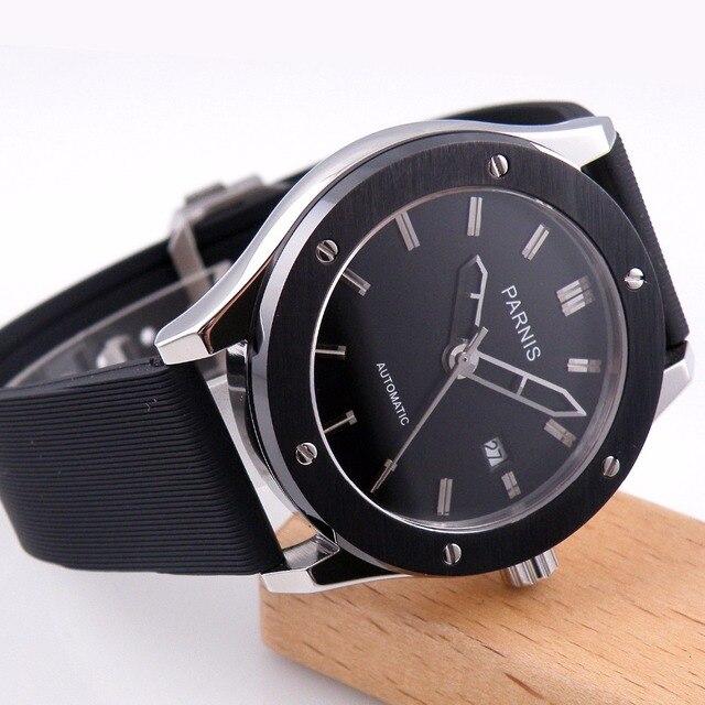 44mm parnis men's watch fashion trend mechanical watch waterproof calendar automatic mechanical watch