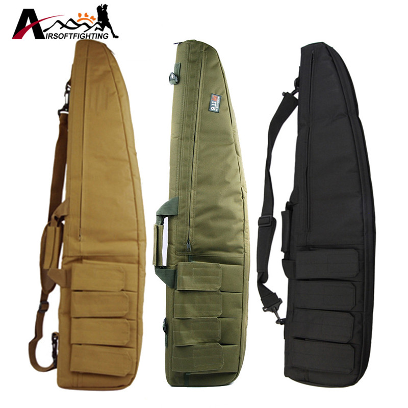 Tactical 1m Heavy Duty Gun Carrying Bag With Shoulder Strap 600D Waterproof Paded Rifle Gun Case Bag for Carbine Shotgun Bag 47 folding fishing rod bag tactical duel rifle gun carry bag with shoulder strap outdoor fishing hunting gear accessory bag