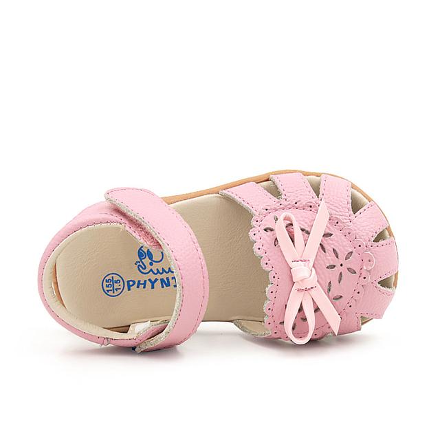 Mocasines de cuero Del Niño Del Bebé de La Muchacha Primeros Zapatos Infantiles Suaves Del Bebé Zapatos Mocasín Verano Foorwear Slofjes 503014