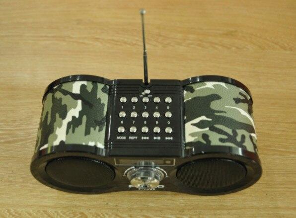 Haut-parleur chaud Camouflage stéréo FM Radio USB/TF carte haut-parleur MP3 lecteur de musique FM Radio avec télécommande Radio