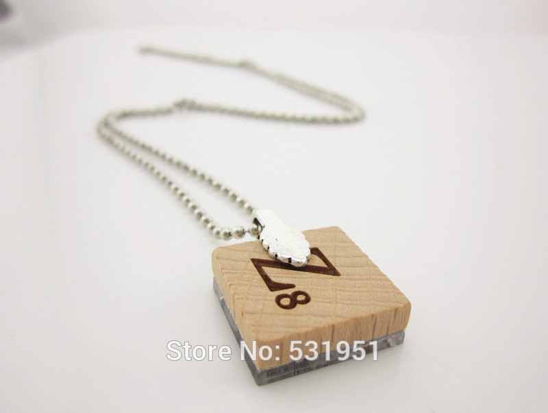 Vintage wooden necklaces make art necklace scrabble tile pendant getsubject aeproduct aloadofball Image collections