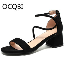 Womens Block Square Heel Concise Sandal Shoes Summer Single Strap Sandals Street Women Plus Sz 33 Easy Spirit