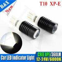 Paar 7 Watt T10 XP-E Led W5W Led Auto Licht Innen Kennzeichensidemarker Birne Weiß 12V-24VDC Led Auto Licht weiß