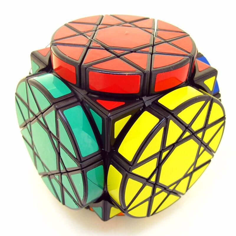 Roues noires de sagesse magique Cube Twist Puzzle Dayan Gem Cube VI jouet de casse-tête