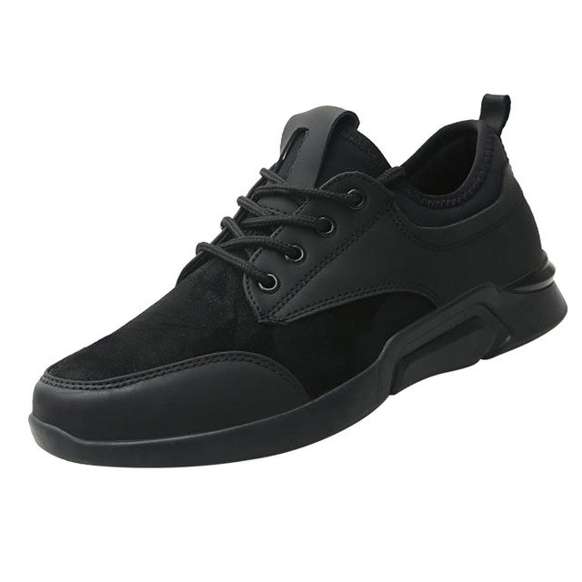 Perimedes Black Lace-Up Men's Sneakers Casual 2