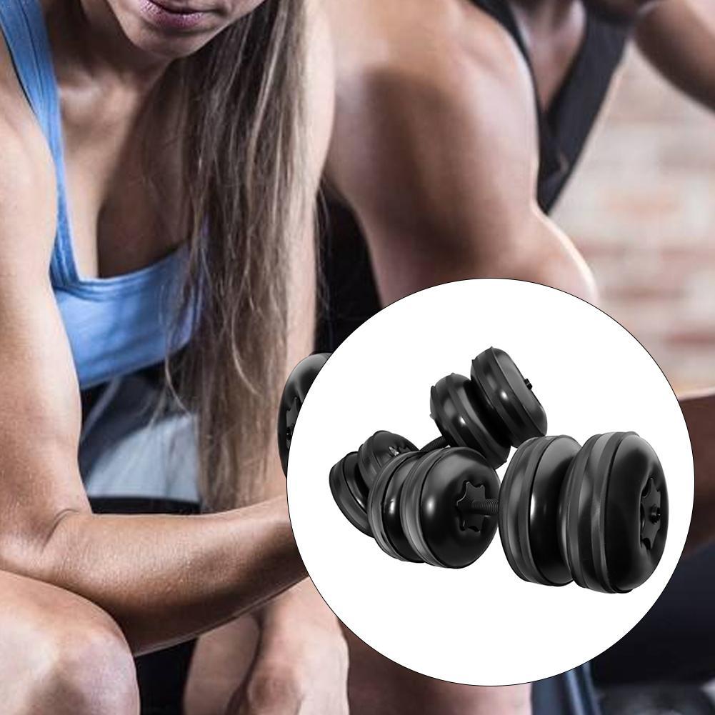 Haltères de voyage portatifs d'entraînement respectueux de l'environnement réglables remplis d'eau d'haltère de forme physique de Muscle de bras d'hommes de 25 kg - 5