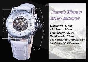 Image 3 - Gewinner 2017 Damen Diamant Display Frauen Top Marke Luxus Weiß Einfache Skeleton Transparent Fall Automatische Mechanische Uhren