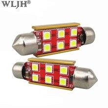 WLJH 4x Canbus Нет Ошибки нет полярности 31 мм 36 мм 39 мм 41 мм светодиодный 3030 чип C5W C10W SV8.5 автомобиля светодиодный авто света лицензии лампы