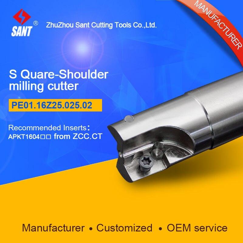 End Mill Shank Square Should Milling Tool EMP01-025-G25-AP16-02 with Zhuzhou Zccct insert APKT1604  цены