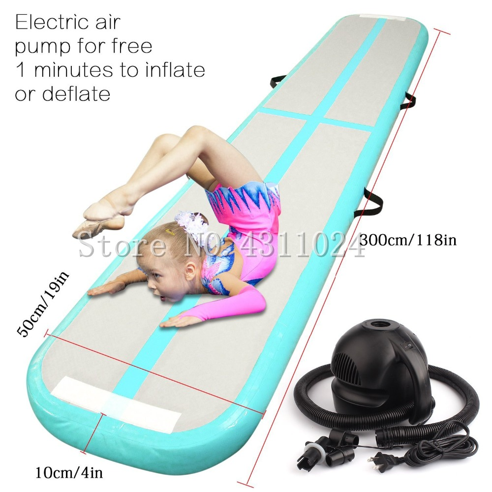 Air Balance Beam Inflatable Practice Training Mat Inflatable Gymnastics AirTrack Tumbling Mat Air Track Floor Mats with Pump gofun airtrack 10ft x 3 ft air tumbling track mat gymnastics exercise pad inflatable gym training mats balance beam 110v air