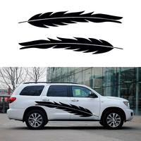 Car Styling Running 2 X Long Bird Feathers Floating Free Life Art Car Sticker For Camper