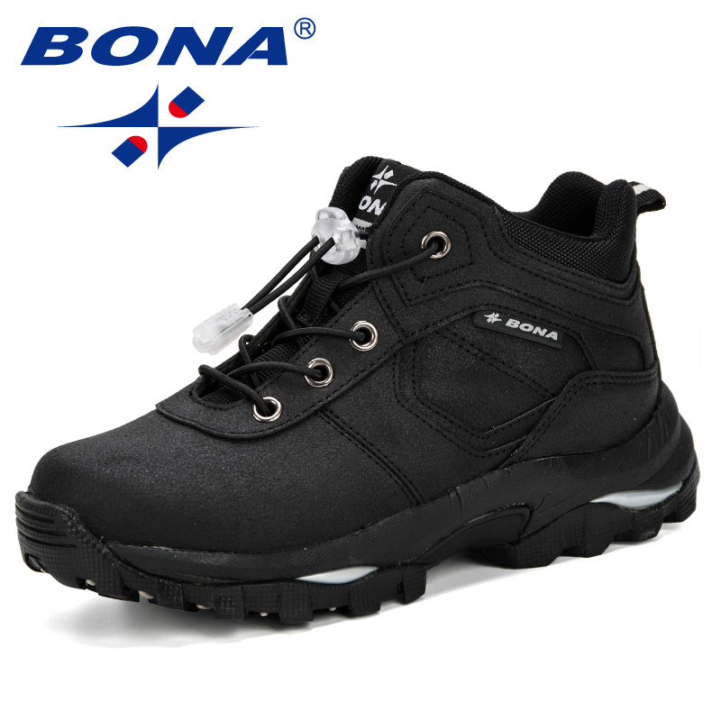 BONA Boys Girls Fashion Sneakers Children School Sport Trainers Synthetic Leather Kid Casual Skate Stylish Designer Shoes Comfy