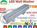 Ac85-265v 72 W DMX512 RGB LED Wall Washer lâmpada mudança de cor ao ar livre LED Projector IP65 à prova d ' água edifícios projetor