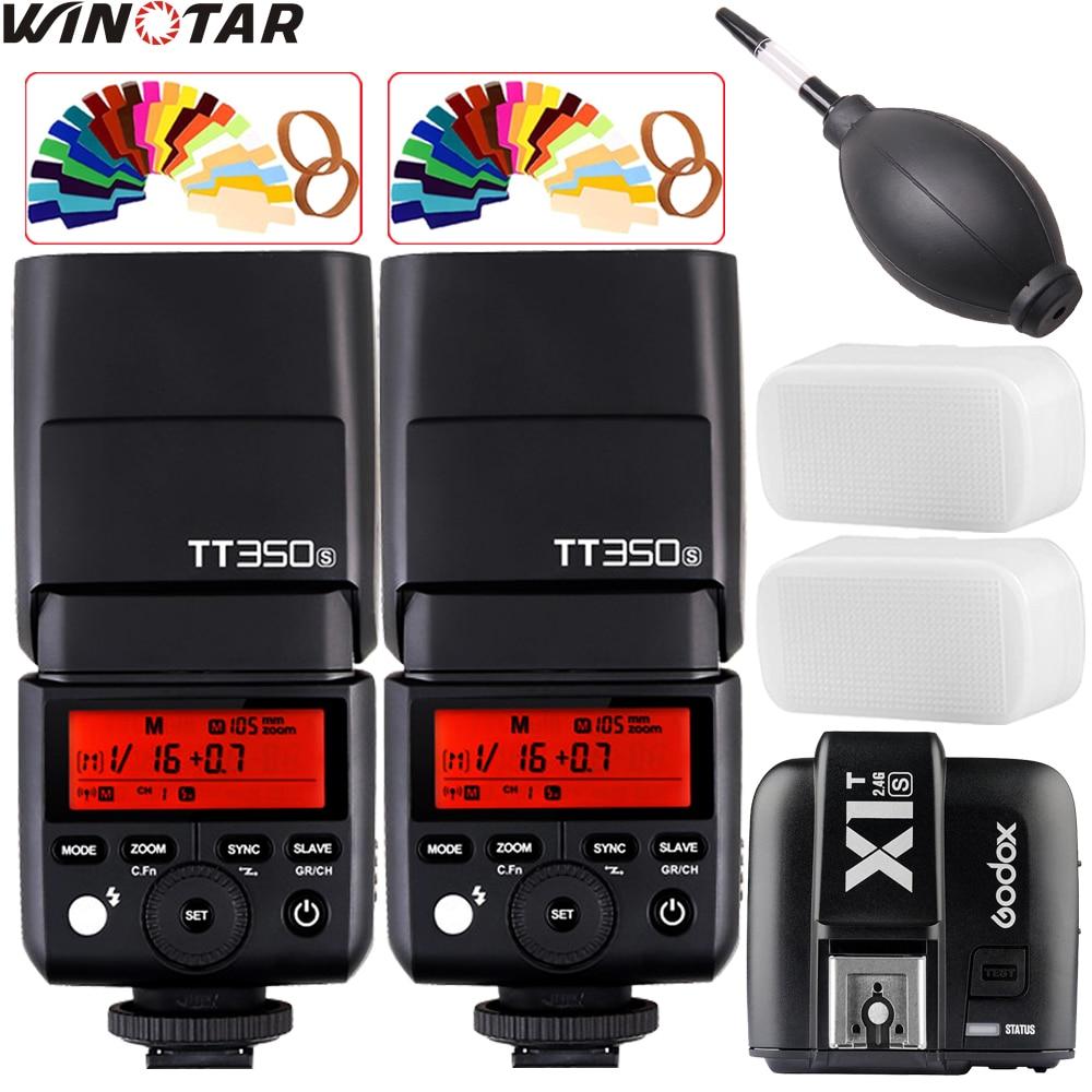 2x Godox Mini TT350 TT350S 2.4G TTL Flash Speedlite +X1T-S Trigger for Sony Mirrorless DSLR Camera a77II a7R A6000 A6500 A992x Godox Mini TT350 TT350S 2.4G TTL Flash Speedlite +X1T-S Trigger for Sony Mirrorless DSLR Camera a77II a7R A6000 A6500 A99
