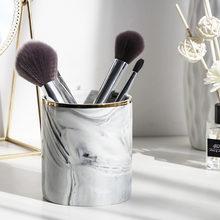 Ethereal Europa Machen-Up Pinsel Lagerung Rohr Augenbraue Bleistift Make-Up Veranstalter Marmor Schmuck Lagerung Box