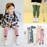 100% baumwolle Mädchen Leggings Mit Nette Bogen Knoten Dekoration Warme Und Bequeme Hose Nette kinder Kleidung Für Alter 3 -7 mädchen
