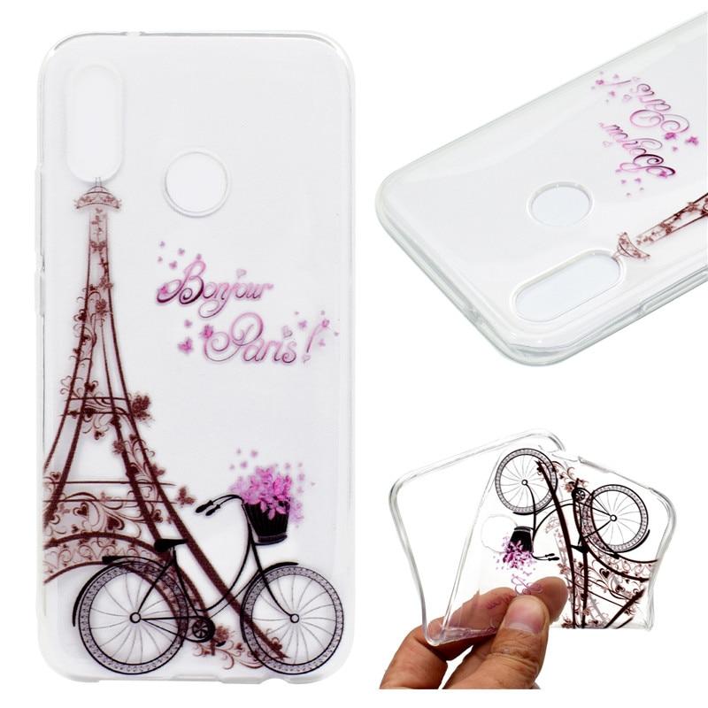 Transparan TPU Penutup Untuk Huawei P20 Lite Kasus Warna dekorasi - Aksesori dan suku cadang ponsel - Foto 1