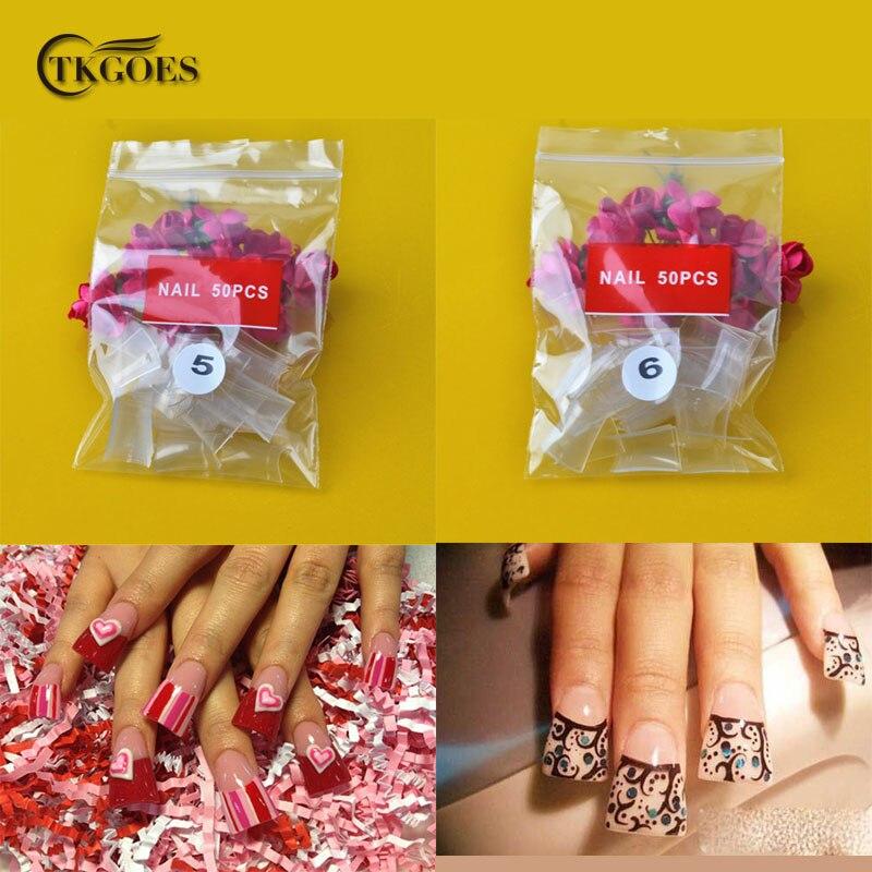TKGOES 500pcs Acrylic Nails Clear Duck Feet Nail Art Tips Wide False ...