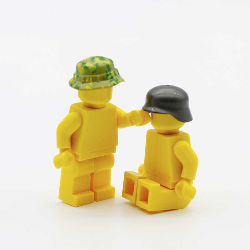 Военный оружие армейский солдат аксессуар строительные блоки кирпичная Кепка оружие спецназ команда городская полиция MOC совместимые части игрушек WW2