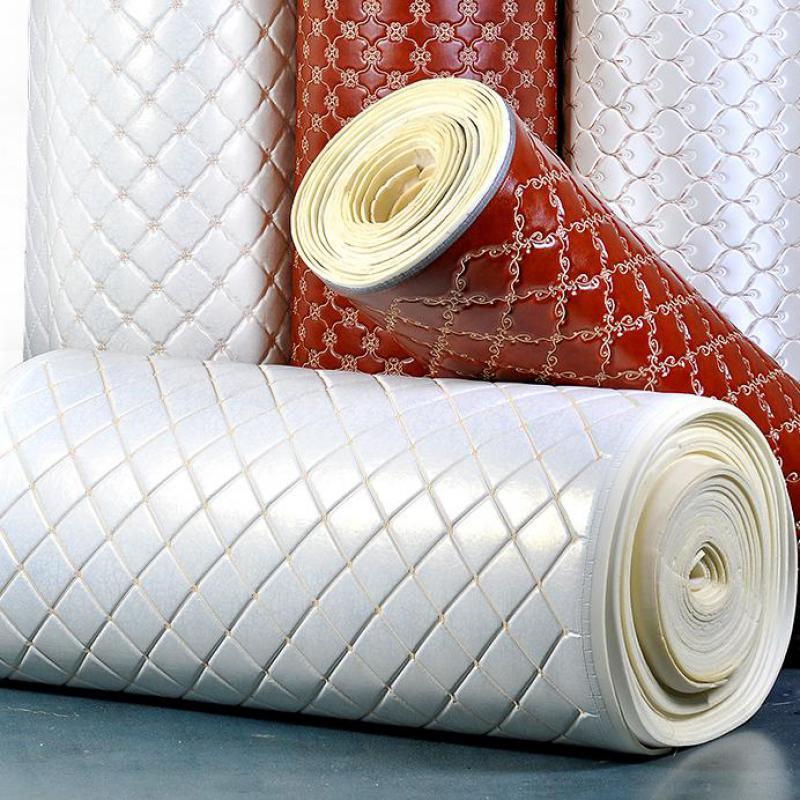 Tissu en cuir souple brodé de haute qualité avec éponge Pu Floral Faux cuir matériel pour chaises tissus d'ameublement canapé-lit