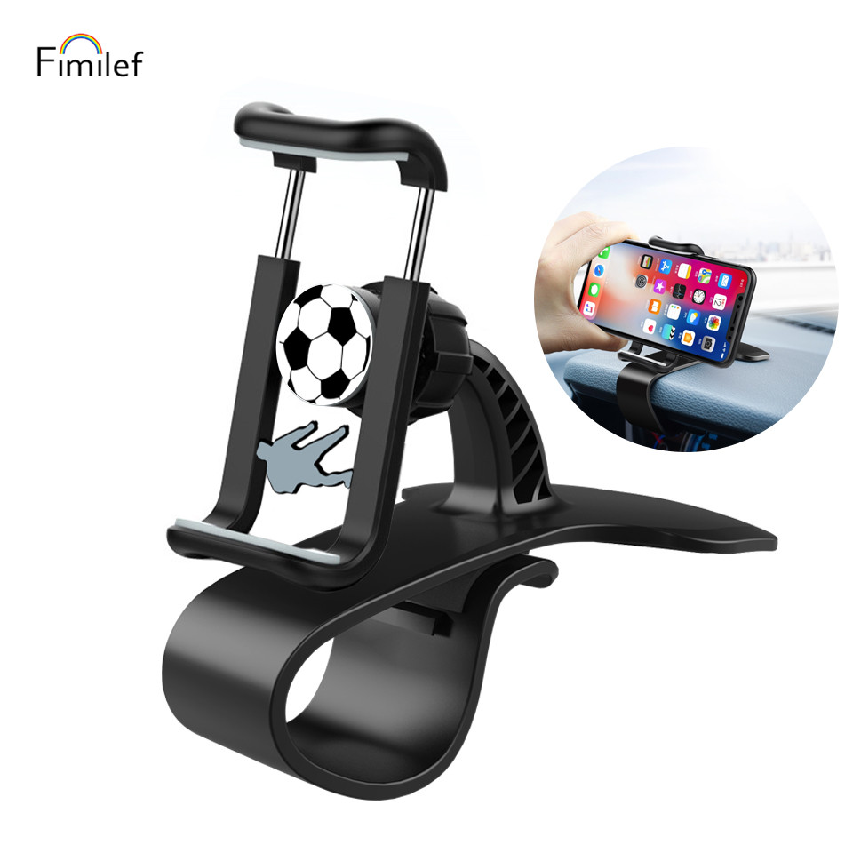 Fimilef Car HUD 360 Rotating Non Slip Navigation Mount Stand GPS Cradle Safe Driving For iPhone Samsung Cell Phone Clip Holder|Phone Holders & Stands| |  - title=