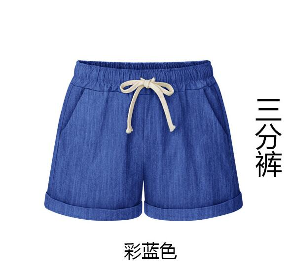 Women Shorts Summer Fashion Cotton Linen Wide Leg Short Slim  Loose Casual High Waist Shorts Beach Female Shorts 6XL