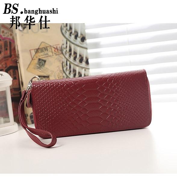 Fashion Crocodile Skin Women 's Clutch Women' s Leather Envelope Clutch Clutch Women 's Handbag
