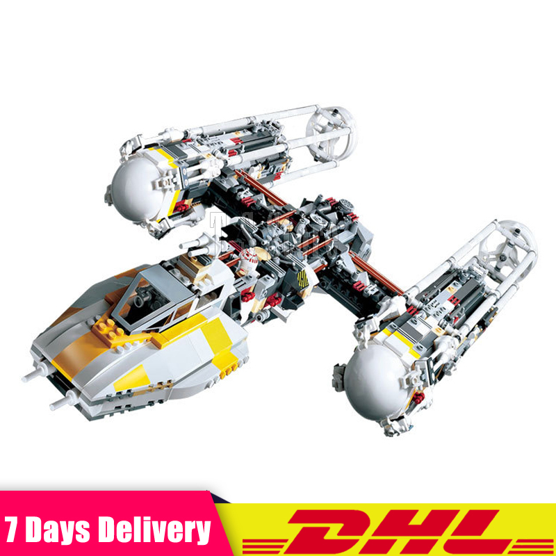IN Stock 2018 LEPIN 05040 1473Pcs Star Series Y-wing Attack Starfighter UCS Model Building Kits Blocks Bricks Toys Clone 10134 lepin 05040 y attack starfighter wing building block assembled brick star series war toys compatible with 10134 educational gift