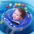 Mejor Calidad Recién Nacido Infantil Del Bebé Del Anillo de Natación Inflable Doble Protección Segura Azul Clásico Niños Anillo del Flotador de Natación Del Anillo Del Cuello