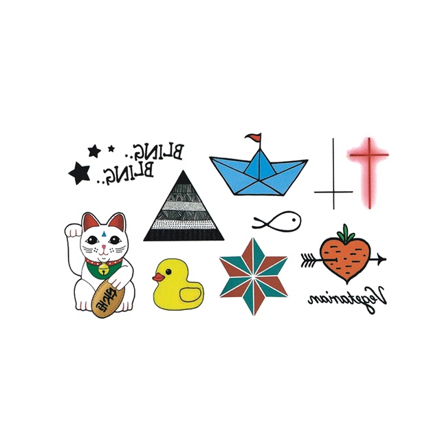 New hot waterproof temporary tattoo stickers for adults kids body art funny items collection mx